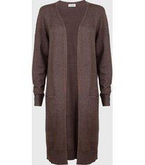 cardigan jacqueline de yong marrón - calce regular