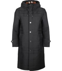 burberry hooded cotton parka
