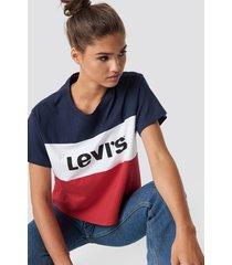 levi's colorblock jv tee - multicolor