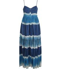 alberta ferretti stripe pattern long dress