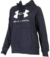 buzo negro  under armour rival fleece graphic mujer