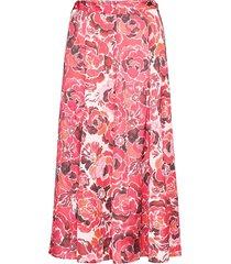pink-h knälång kjol rosa mango
