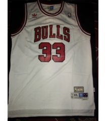#33 scottie pippen retro hardwood classic chicago bulls white jersey stitched