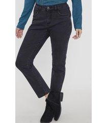 jeans 1 botón recto push up negro corona