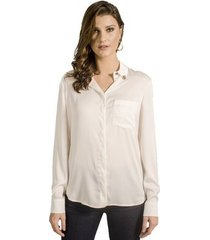 camisa com broches alphorria feminina