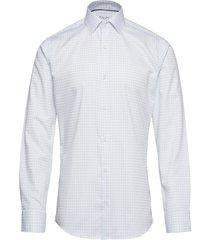 fine twill | check | l/s, slim fit skjorta business vit seven seas copenhagen