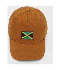 boné kanui dad cap jamaica flag caramelo