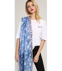 sciarpa mare in cotone stampa stelle