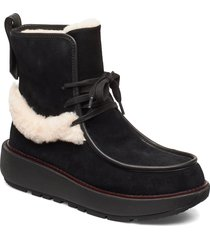 greta moccassin boot shoes boots ankle boots ankle boot - flat svart fitflop