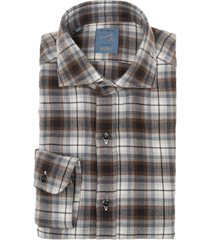 barba napoli barba dandy life checked cotton and wool shirt