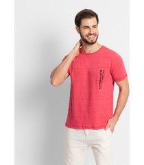 camiseta masculina adulto rovitex vermelho