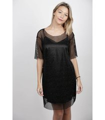 vestido negro dollfins london