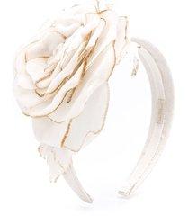 monnalisa tulle flower bud headband - white