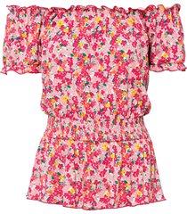 maglia con spalle scoperte in lenzing™ ecovero™ (rosa) - rainbow