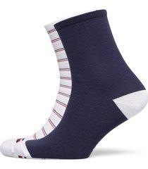 th women short sock 2p preppy lingerie hosiery socks blå tommy hilfiger