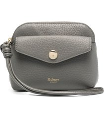 mulberry press-stud pouch - grey