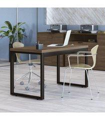 mesa escrivaninha com usb marrom f122 munique - kappesberg
