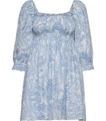calista mini dress kort klänning blå faithfull the brand