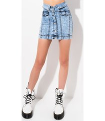 akira flip it real good high rise denim skirt