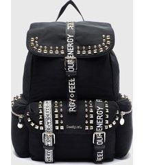 mochila bright rock negro desigual