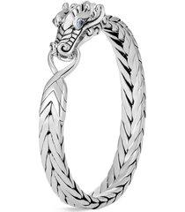 'legends naga' sapphire silver medium bracelet