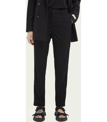 scotch & soda lowry slim-fit mid-rise recycled polyester-blend trousers