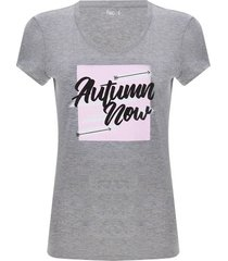 camiseta descanso autumn color gris, talla l