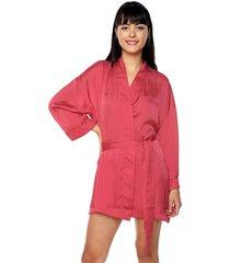 kimono en seda cinturon ref. 177726 rojo