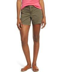 women's caslon cotton twill shorts, size 10 - green
