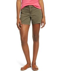 women's caslon cotton twill shorts, size 10 - green