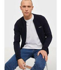 jack & jones jorbaxtor knit cardigan tröjor mörk blå