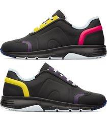 camper twins, sneaker donna, nero/giallo/viola, misura 41 (eu), k200893-002