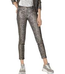 broek amy vermont grijs::zilverkleur