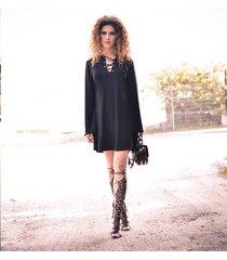 sukienka mini/tunika czarna