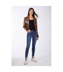 calça basic skinny midi jeans medio - 44