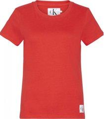 remera roja calvin klein core slim t-shirt