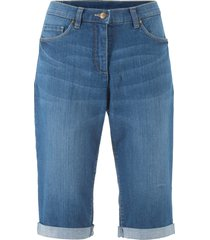 bermuda in jeans elasticizzati con cinta comoda (blu) - bpc bonprix collection