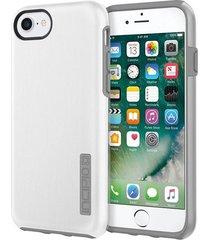 estuche protector antichoque incipio dualpro shine iphone 7 - blanco / gris