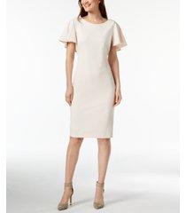 calvin klein capelet sheath dress