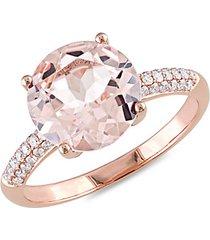 14k rose gold & diamond cocktail ring