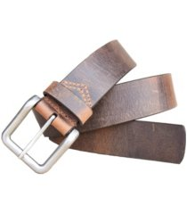 lejon men's pointer distressed crazy horse leather casual work jean belt