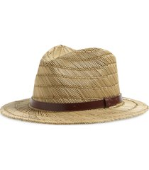 brixton messer straw fedora, size x-large in tan at nordstrom