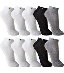 kit 10 pares meias masculina lupo soquete cano curto algodão - kanui
