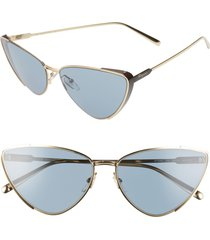 women's salvatore ferragamo 63mm oversize cat eye sunglasses -