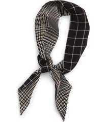 women's madewell silk skinny bandana, size one size - black
