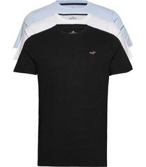crew multi t-shirts short-sleeved svart hollister