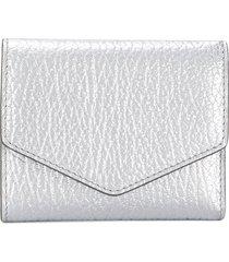 maison margiela textured wallet - silver