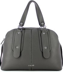 liu jo designer handbags, gray bowler bag