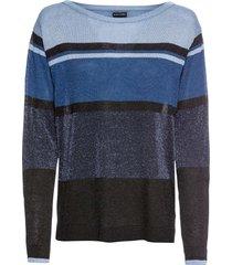 maglione a righe con lurex (blu) - bodyflirt