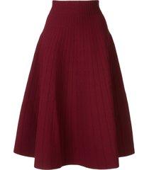 casasola high waisted ribbed skirt - red